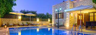 Holiday homes pool Greece